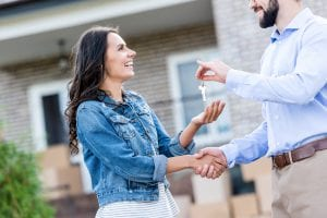 Couple Getting Key to New Home